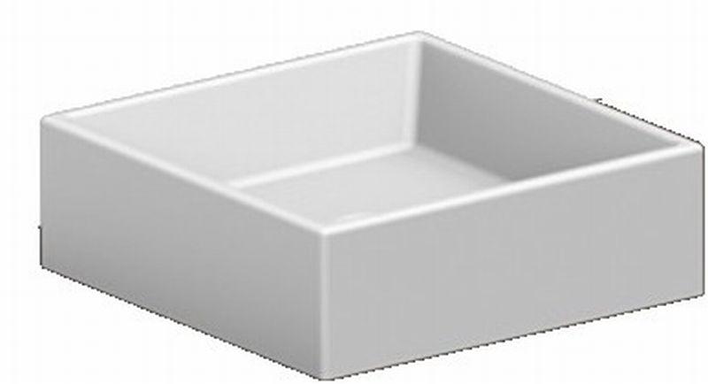 Sub opzetwastafel vierkant cm zonder kraangat wit